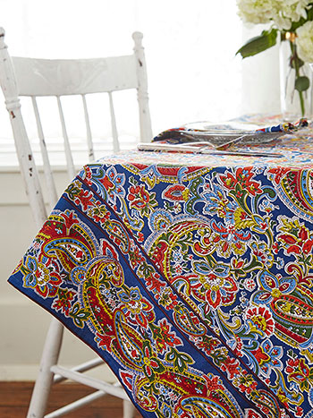 Priscilla's Paisley Tablecloth