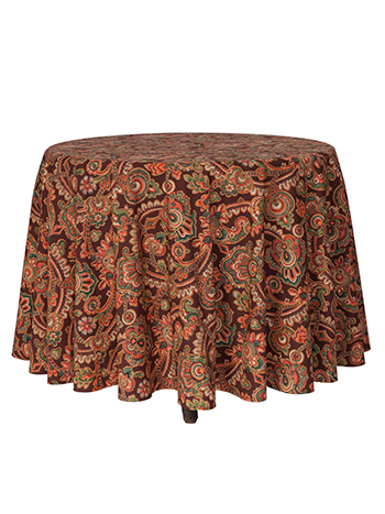 Queen's Court Round Cloth - Chocolate