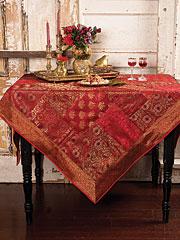 Ruby Brocade Tablecloth