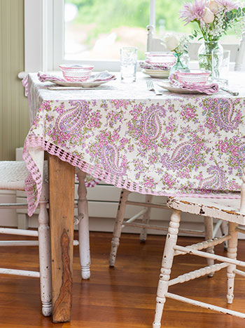 Sketch Paisley Tablecloth