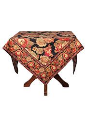 Sunflower Tablecloth - Black