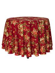 Tea Rose Round Cloth - Brick