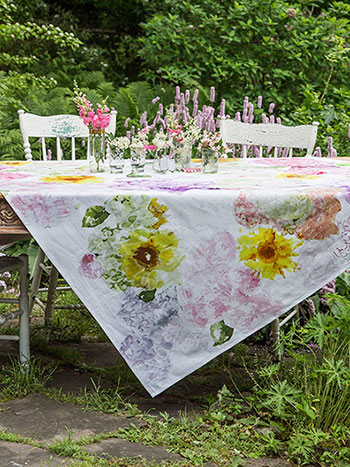 Tumbling Hydrangea Watercolor Tablecloth