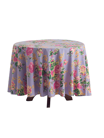 Victorian Rose Round Tablecloth - Lavender