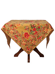 Victorian Rose Tablecloth - Gold