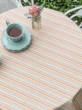 Confetti Stripe Tablecloth