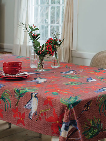 Christmas Tablecloths.Woodland Christmas Tablecloth