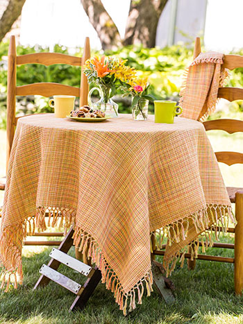 Misty Island Honeycomb Tablecloth