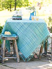 Misty Island Honeycomb Tablecloth