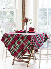 Merry Tartan Plaid Tablecloth