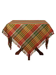 Nutmeg Plaid Tablecloth