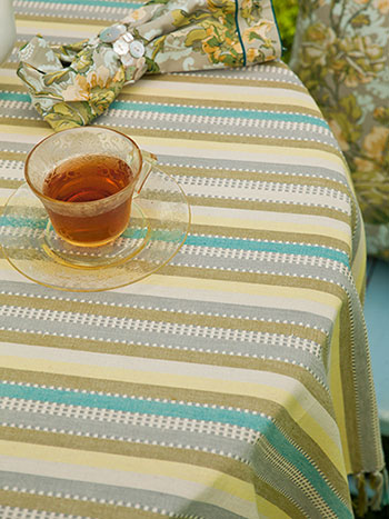 Citrine Stripe Tablecloth