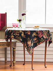 Victorian Rose Waffle Tablecloth