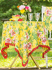 Water Lily Honeycomb Tablecloth