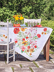 Zinnia Bouquet Tablecloth