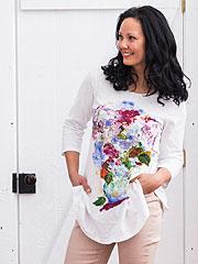 My True Love's Hydrangea T-shirt
