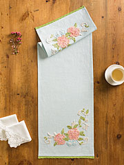 Charlotte's Chenille Embroidered Table Scarf