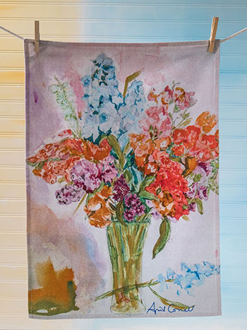 Bountiful Bouquet Tea Towel