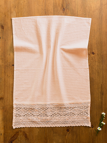 Romantic Crochet Tea Towel