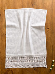 Romantic Crochet Tea Towel