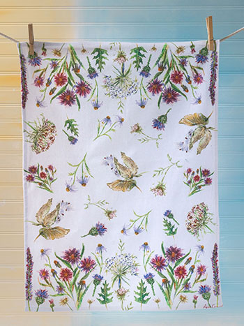 Field Flower Tea Towel