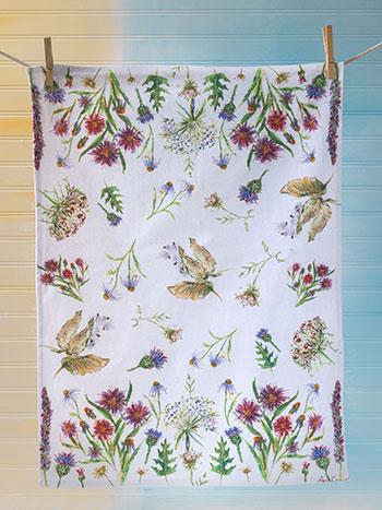 Field Flower Tea Towel