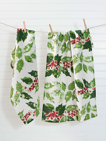 Jolly Holly Tea Towel Set of 2