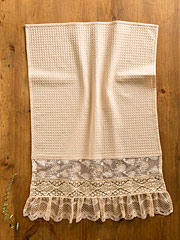 Romantic Lace Tea Towel - Antique
