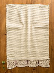 Luxurious Honeycomb Tea Towel - Ecru