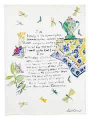 I See Beauty Poem Tea Towel