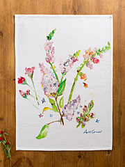 Snapdragon Watercolor Tea Towel
