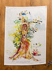 Tree Saving Priestess Tea Towel