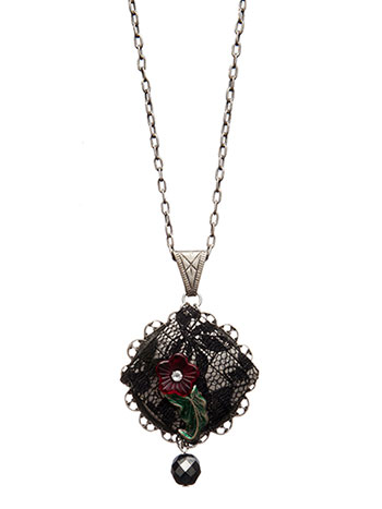 Flowers and Lace Necklace