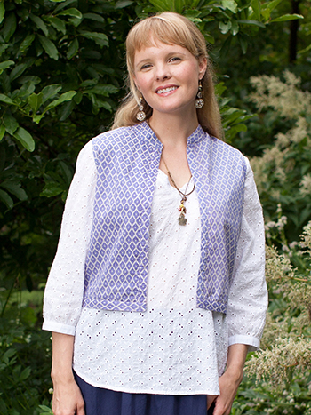 India Patchwork Ladies Vest