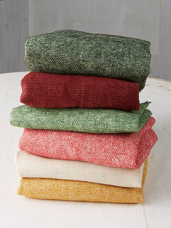 Christmas Wool Felt Squares Set of 6