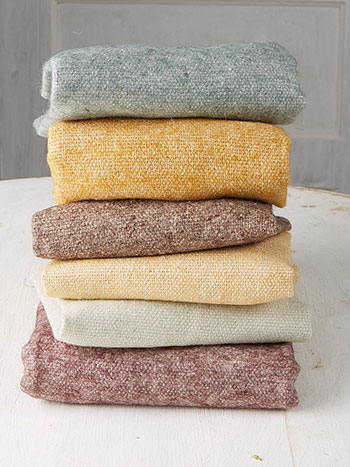 Natural Wool Felt Squares Set of 6