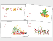 Candy Canes, Christmas Trees & Playful Elves Gift Tags