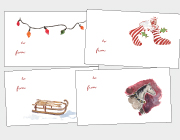 Christmas Lights, Sleds, Stockings & Sleigh Horses Gift Tags