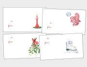 Candles, Mistletoe, Mittens & Skates Gift Tags