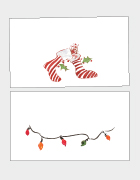 Christmas Stockings and Lights Place Cards