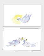 Doves of Peace Place Cards