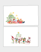 Tired Santa & Elves Place Cards