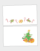 Candy Canes & Christmas Tree Place Cards
