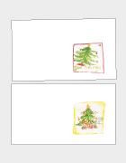 Good Tidings and Christmas Trees Place Cards