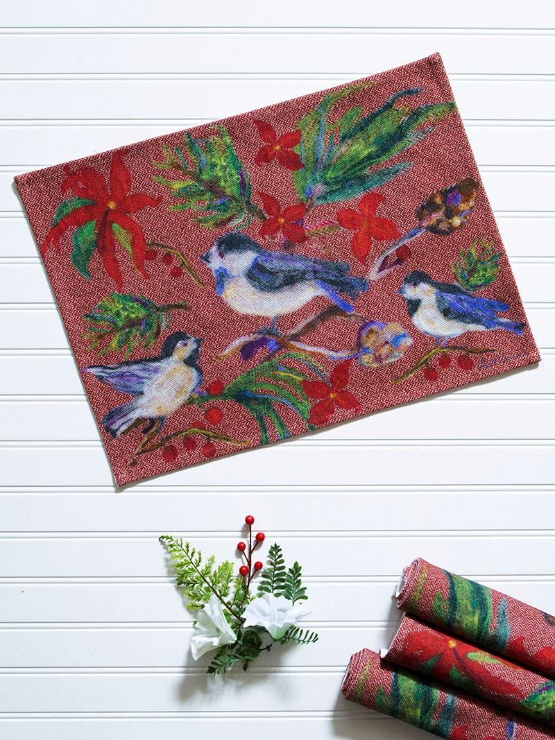 Woodland Christmas Placemat Set Of 4 April S Attic Sale Linens Kitchen Attic Beautiful Designs By April Cornell