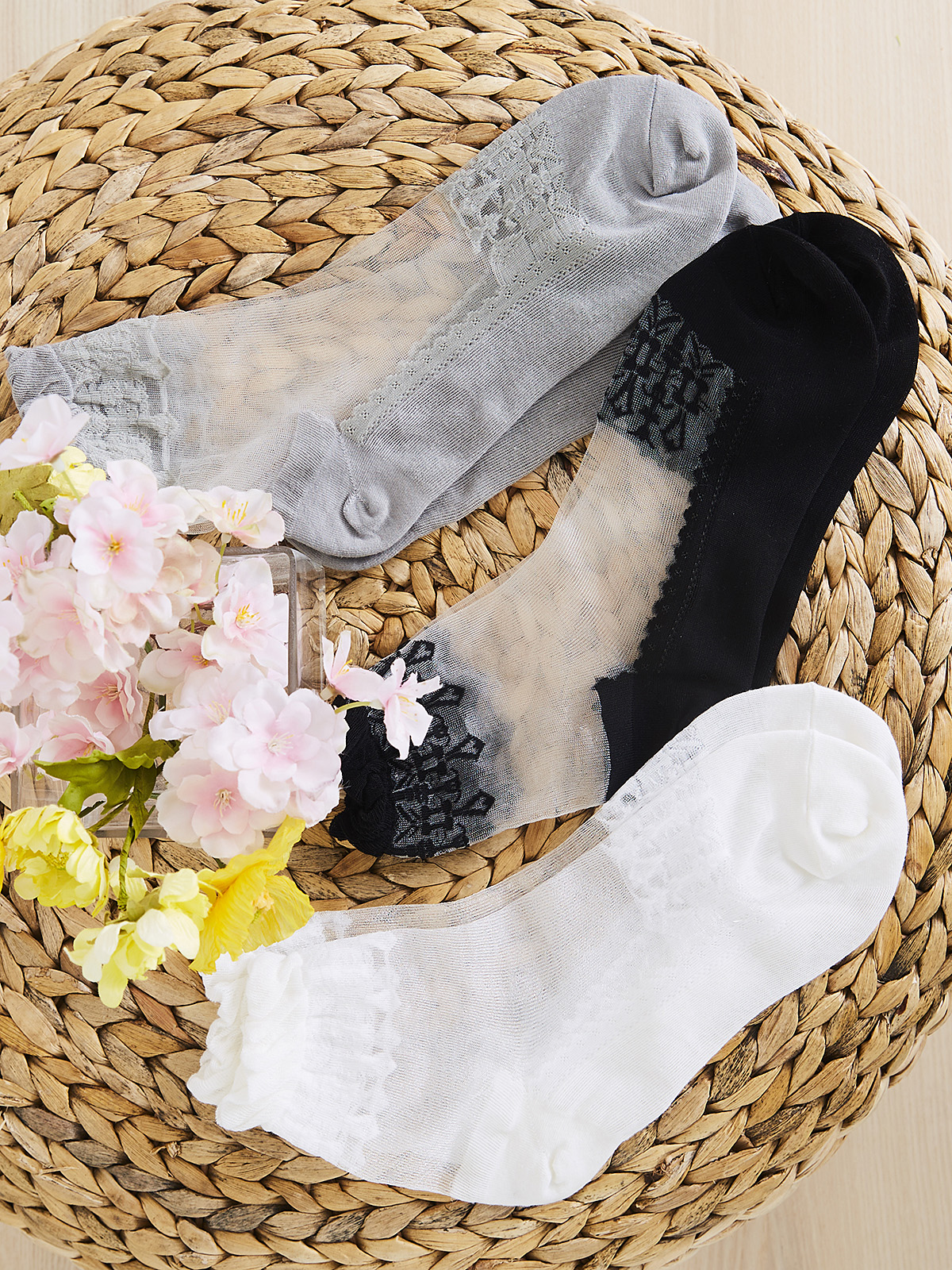 Claudette Sheer Stockings - Set of 3