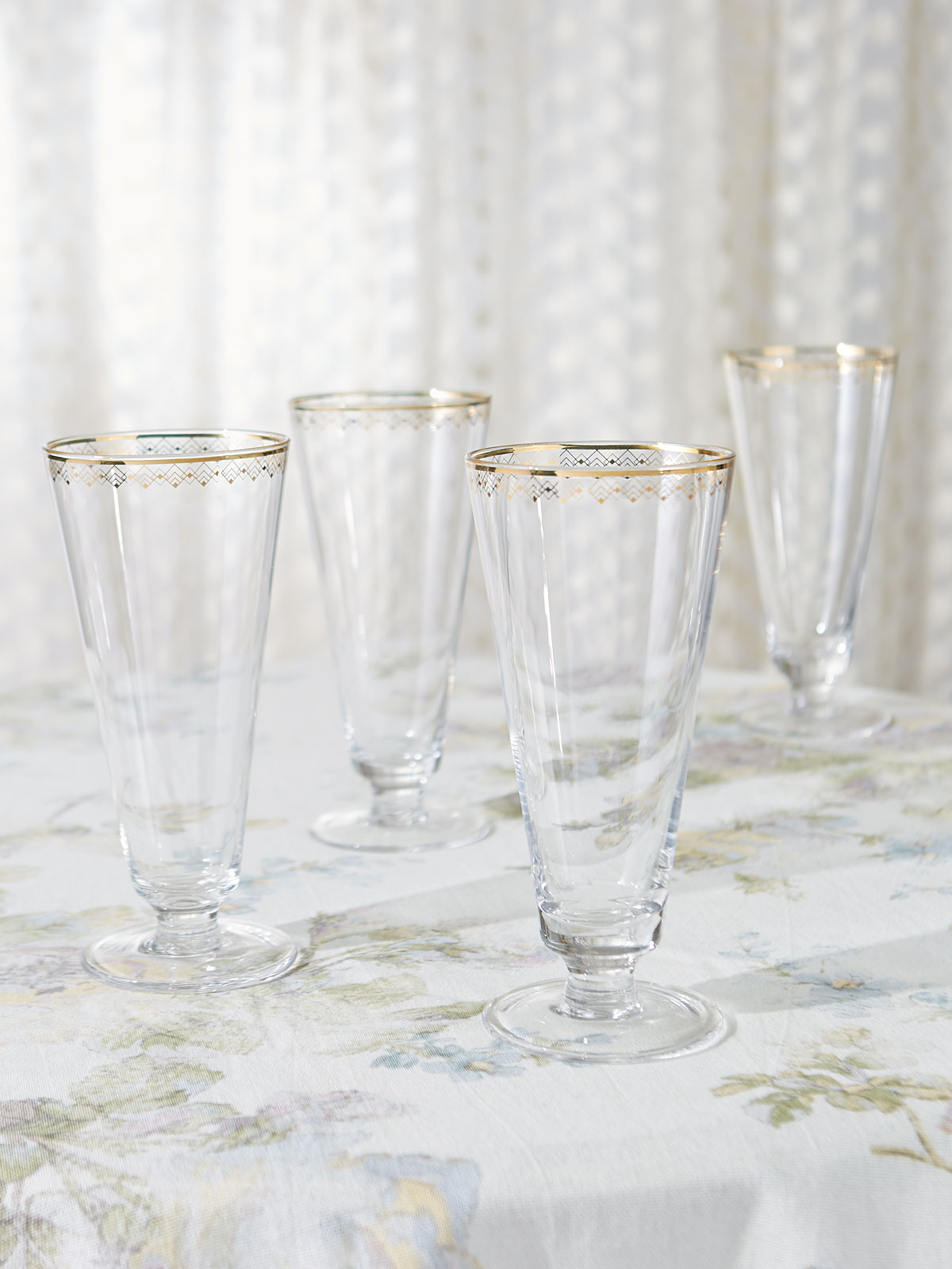Elegant Water Glasses, Set of 4