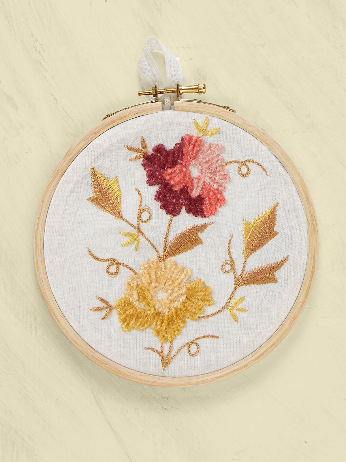 Golden Bouquet Keepsake Embroidery