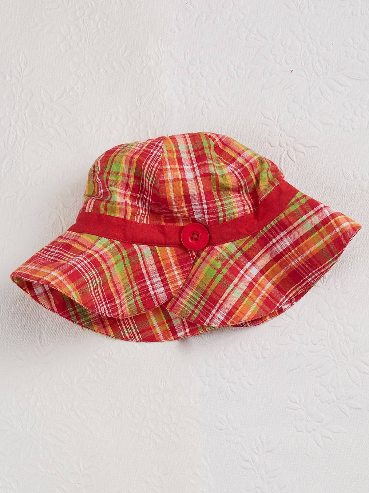 Cape Cod Check Girls Sunhat
