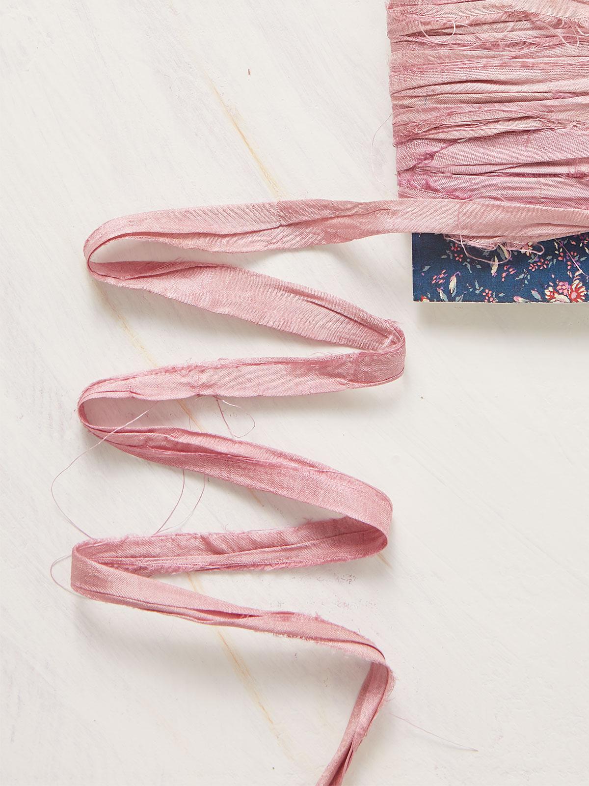 Hand-Dyed Silk Ribbon